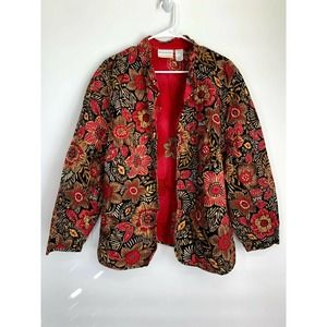 Alfred Dunner Coral Floral Jacket Women's Size 22W